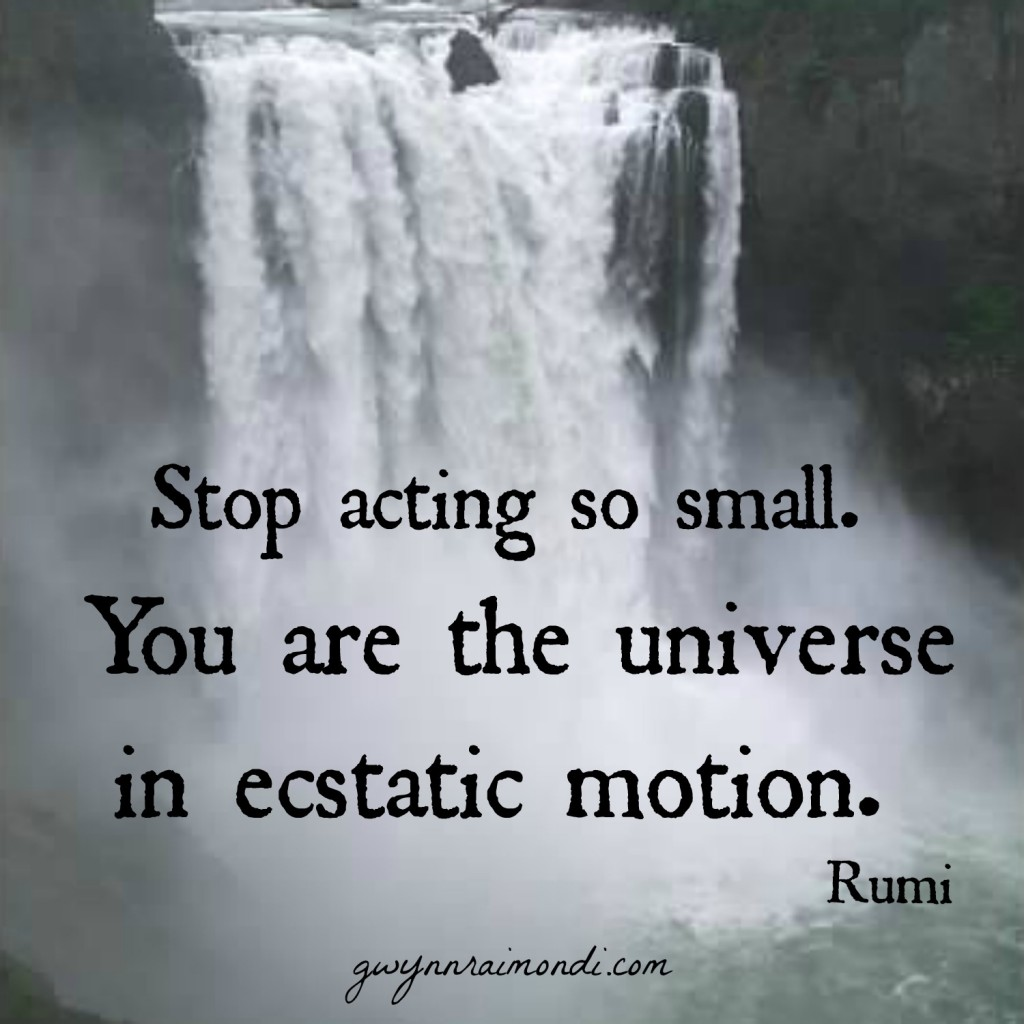 stop acting small