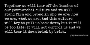 tear it down brick by brick